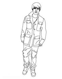 Small Picture Justin Bieber Stand Up Coloring Page NetArt