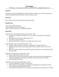 Nanny Resume Nanny Resume Examples Frightening Template Qualification 95