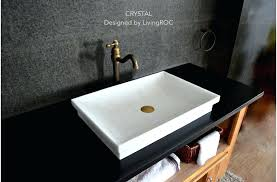 drop in vanity sink outstanding pure crystal white marble bathroom vessel drop in sink crystal for drop in bathroom sinks rectangular ordinary rectangle