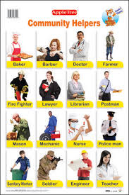 Our Community Helpers Chart Buy Educational Charts Community Helpers Book Online At