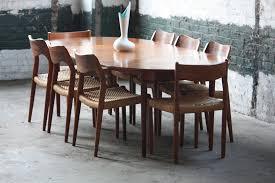 danish modern dining room set.  Set Handsome Hans Wegner Danish Expandable Mid Century Modern Teak Dining  Table For Andreas Tuck Denmark Throughout Room Set S