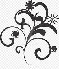flower black and white clip art flower vector black and white png