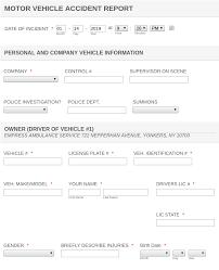 Motor Vehicle Accident Report Form Template Jotform