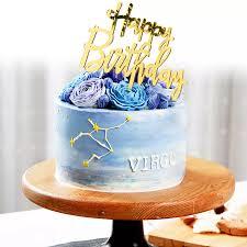 Acrylic Mirror Selamat Ulang Tahun Gold Silver Birthday Cake