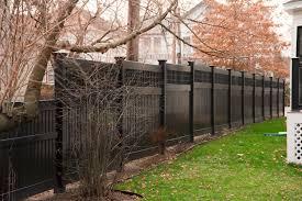 pvc black vinyl fence