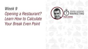 Starting A Restaurant - Restaurant Break Even Point - Youtube