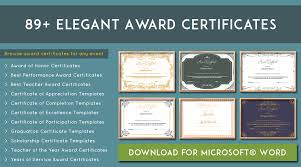 Download Award Certificate Templates 89 Elegant Award Certificates For Business And School Events