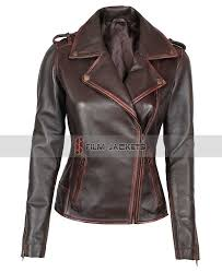 womens chocolate brown leather jacket