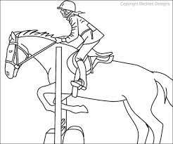 Small Picture Realistic Horse Jumping Coloring Pages Coloring Coloring Pages