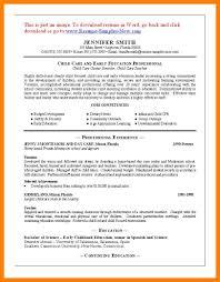 Resumesd Care Resume Sample Enclosure Format Daycare Teacher Child
