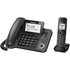 panasonic 1 handset dect 6 0 corded cordless phone with answering machine kxtgf350m cordless phones best canada
