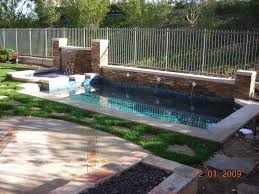 rectangular pool designs with spa. Cozy Small Pool Inspiration With Sophisticated Waterfall And Scenic Background Rectangular Designs Spa I