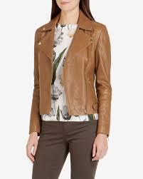 ted baker preeya leather biker jacket