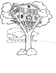 Tree House Coloring Pages Luxury Free Halloween Color Best Fresh