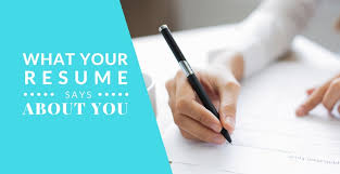 About you on resume