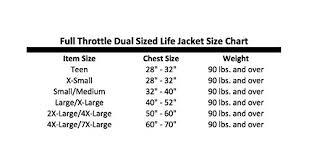 Full Throttle Life Vest Size Chart Full Throttle Adult Nylon Water Sports Vest Blue 2xl 4xl