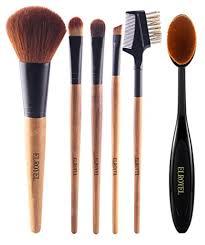 makeup brush set 6 piece essential no shed no hair super soft bristle including a contour makeup brush eyebrow brush and oval brush