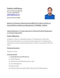 PABITRA ADHIKARY RESUME CREDIT MANAGER. Pabitra Adhikary S/0: Late Parimal  Adhikary Contact- 9851078349 pabitra96@gmail.