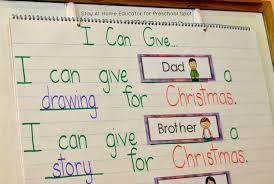 Predictable Charts Kindergarten Teach Preschoolers The Spirit Of Giving This Christmas