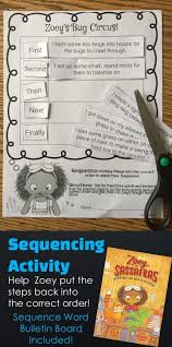 best ideas about sequencing words sequencing sequencing activity zoey s bug circus