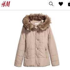 h m winter coat in blush pink women s fashion clothes outerwear on carou