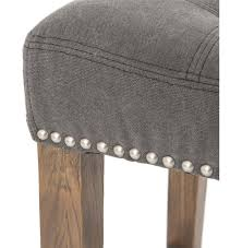 milton modern classic grey tufted nailhead counter stool gray counter height stools s11