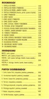 Menú Del Restaurante  Picture Of LA TAPA Castro Urdiales La Tapa Castro Urdiales