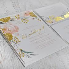 Whimsical Rose Foil Invitation Whimsical Garden Weddings And