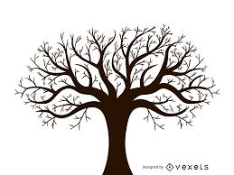 Tree Design Leafless Autumn Tree Design Vector Vector Download