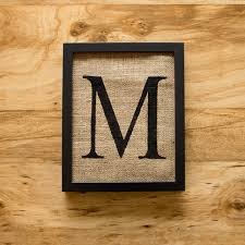 wall art letter m