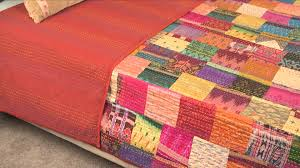 Vintage Throw Kantha Quilt Indian Handmade Cotton Bedspread ... & Vintage Throw Kantha Quilt Indian Handmade Cotton Bedspread Reversible -  YouTube Adamdwight.com