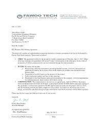 sample agreement letters agreement letter parts and sample
