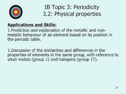 1 Topic 3: Periodicity 3.1: The periodic table Essential Idea: The ...