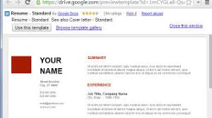 Resume Templates Google Impressive Use Google Docs' Resume Templates For A Free GoodLooking Resume
