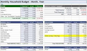 Home Budget Spreadsheet Excel Monthly Home Budget Worksheet Major Magdalene Project Org