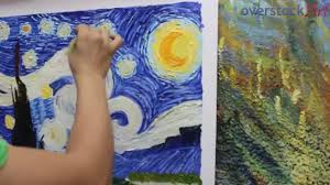 is it really hand painted see how we create a hand painted van gogh starry night you