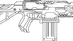 Nerf Gun Rival Coloring Pages