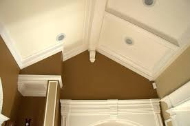 crown molding lighting crown molding vaulted ceiling with recessed lighting fixtures and brown wall paint color