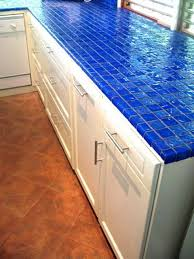 16 cobalt blue and aqua colored ceramic tiles for kitchen countertop