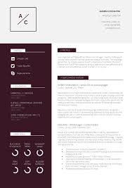 Free Resume Templates Cool Cv Template Vita Sample Curriculum