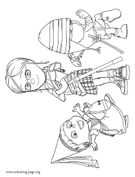 Small Picture Despicable Me Margo Edith and Agnes coloring page