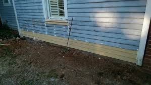 wood siding repair. He Placed The Long, Hard To Handle Lap Siding On Hangers By Himself. Final Results Are Excellent. Wood Repair
