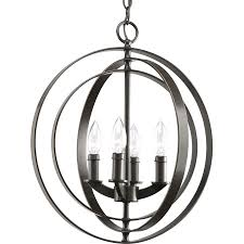 progress lighting equinox 16 in 4 light antique bronze globe chandelier