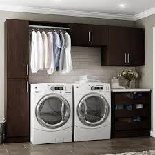 laundry room cabinets laundry room storage the home depot w mocha laundry cabinet kit
