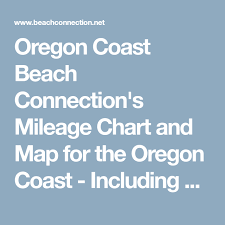 Oregon Coast Beach Connections Mileage Chart And Map For