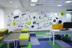office wall mural. Delighful Mural Freecharge Office Bangalore Wall Mural In Office Wall Mural N