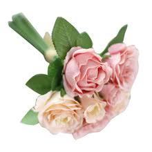 7 голов искусственный шелк Поддельные <b>декоративные цветы</b> ...
