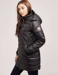 Canada Goose Camp Hooded Jacket Black For Women X67c7448