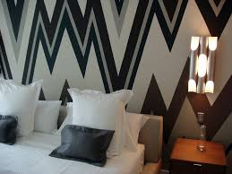 graphic wall paint is the cur trend in interior design