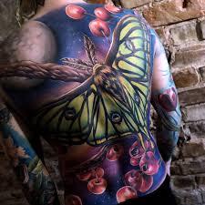 Spanish Moon Moth Mens Back Tattoo Best Tattoo Design Ideas